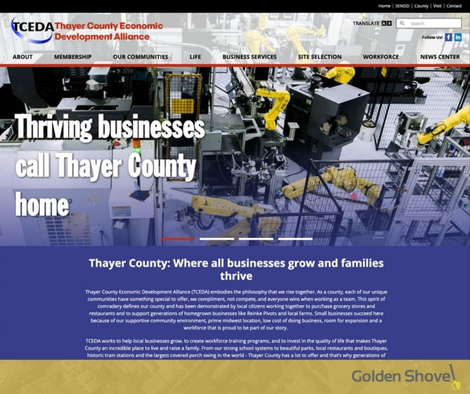 Thayer County Economic Development Alliance Launches Newly Designed Website Main Photo