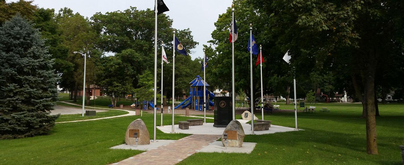 memorial and playground