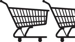 shopping cart chart-half