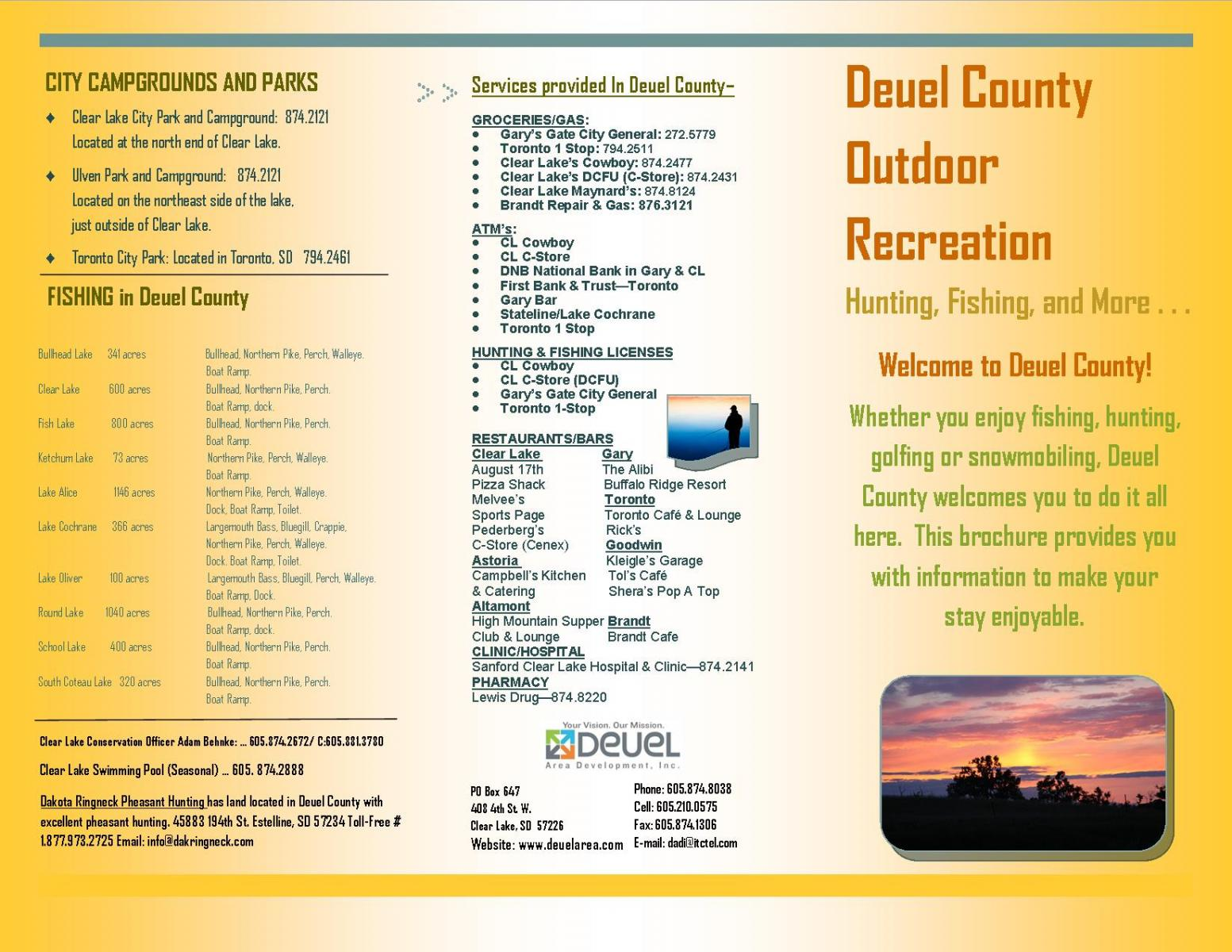 Thumbnail Image For Deuel County Outdoor Recreation Brochure - Click Here To See