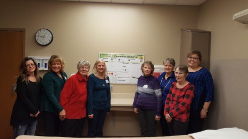 CMH Auxiliary giving Communication Boards