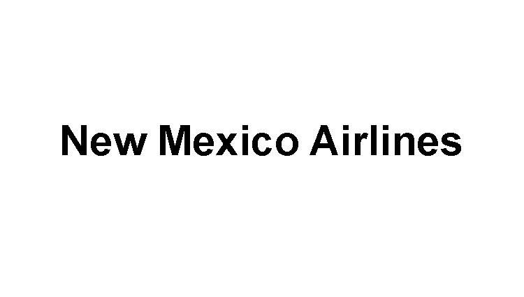 New Mexico Airlines Logo