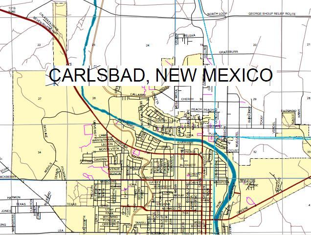 Carlsbad New Mexico Map Maps Carlsbad