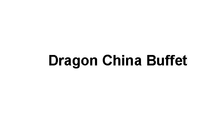 Dragon China Buffet Logo