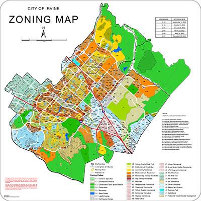 City of Irvine Zoning Map