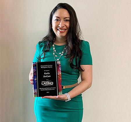 UHV-Katy staffer earns national Latino leadership award Photo - Click Here to See