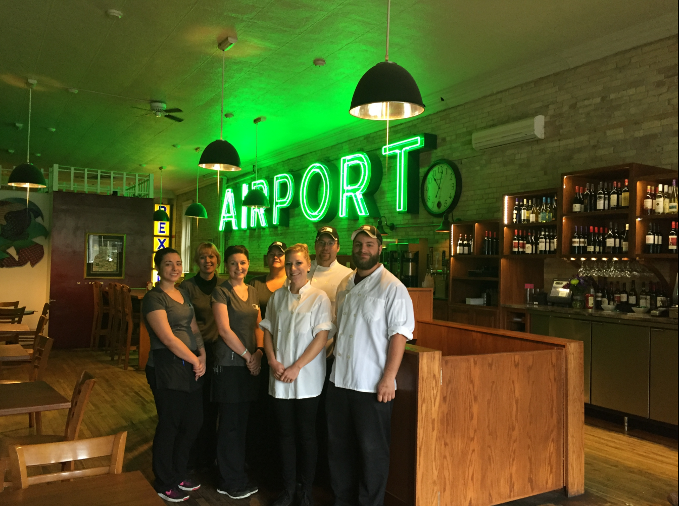 Staff & Airport sign