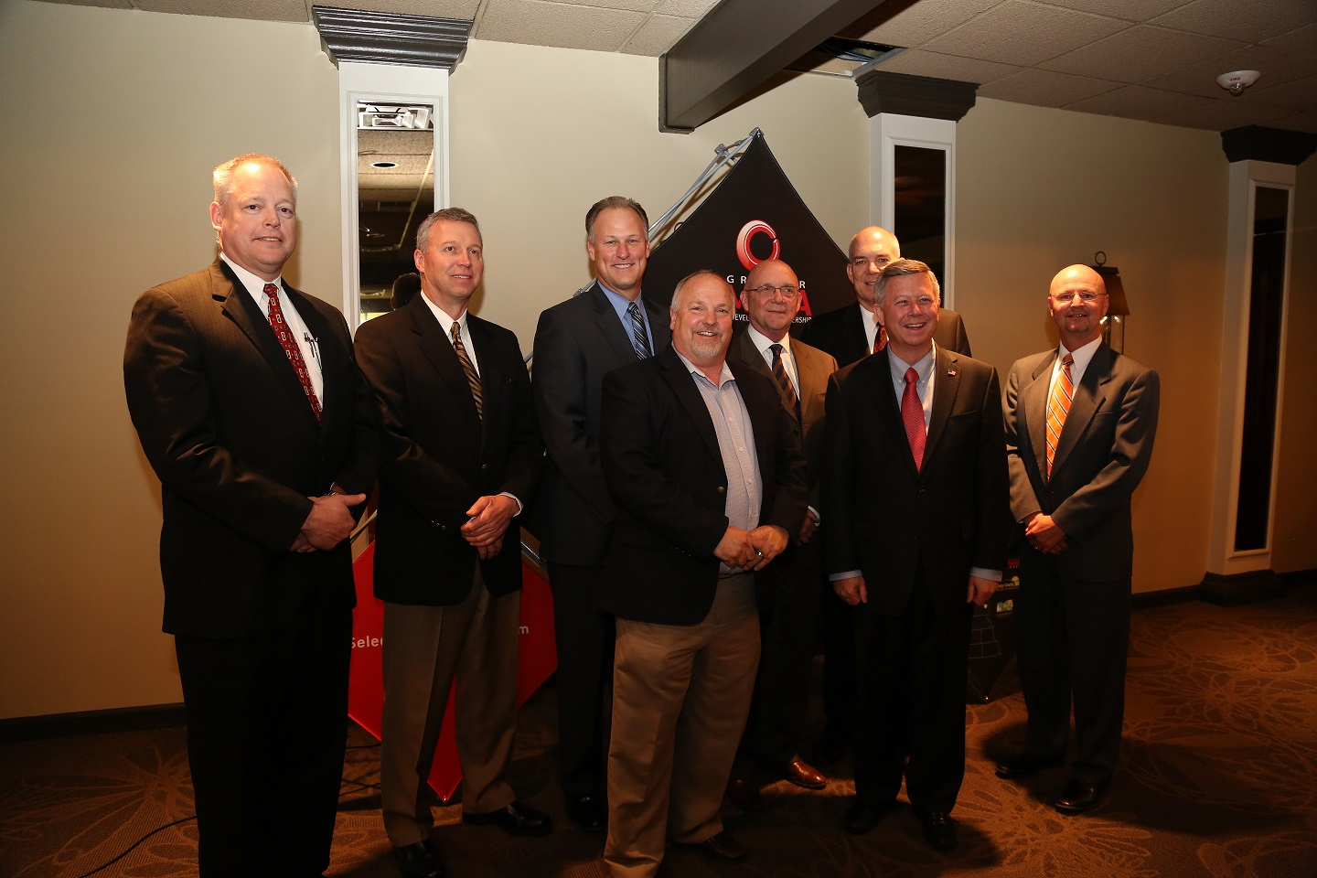 Executive Board with David Brown, Mayor Getzschman & Governor Heineman