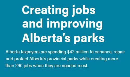 Creating jobs and improving Alberta's parks Main Photo