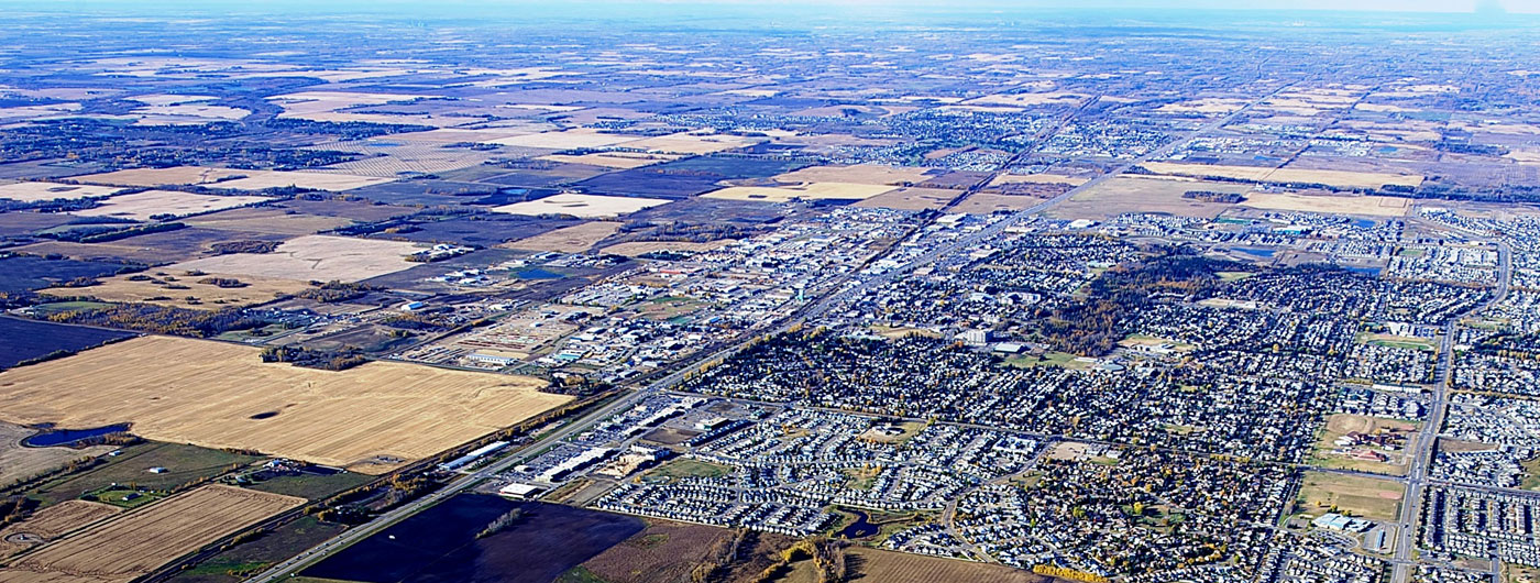 aerial view of spruce grove, alberta