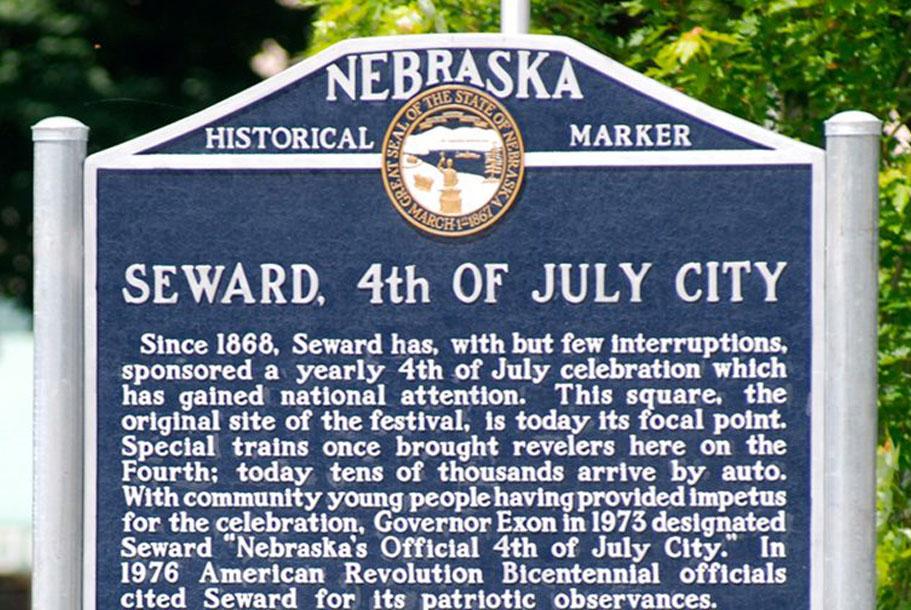historical marker in Seward, NE