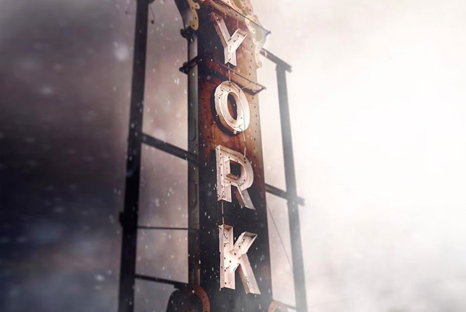 York, NE sign