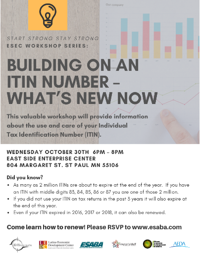 Event Promo Photo For Building On ITINs - What's New Now