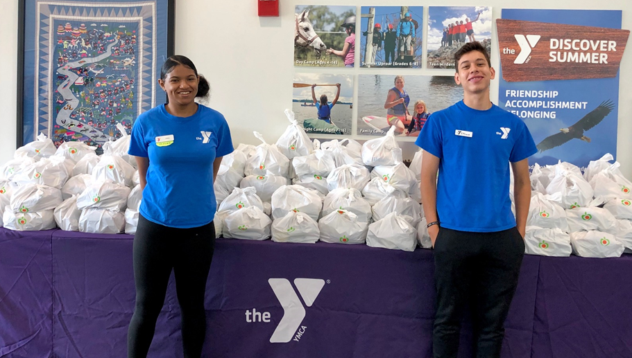 YMCA Food Distribution Photo - Click Here to See