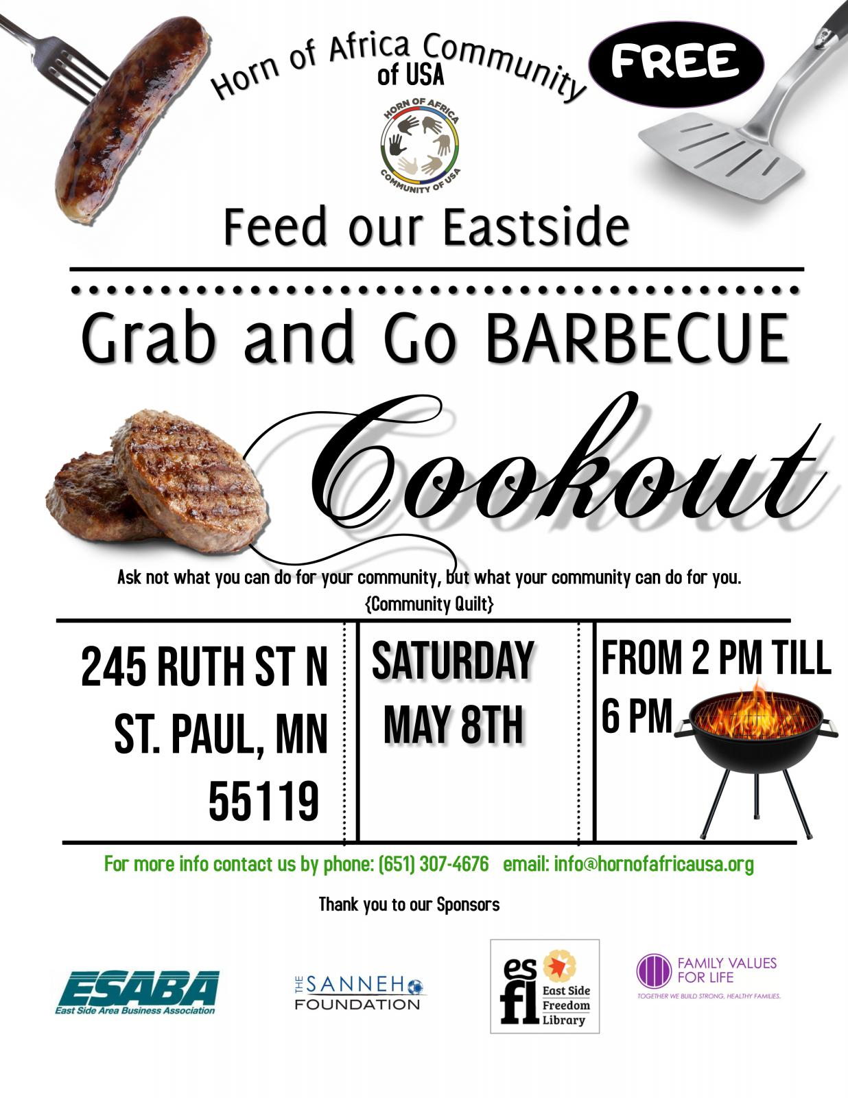 Event Promo Photo For Feed our Eastside Grab and Go Barbecue Cookout