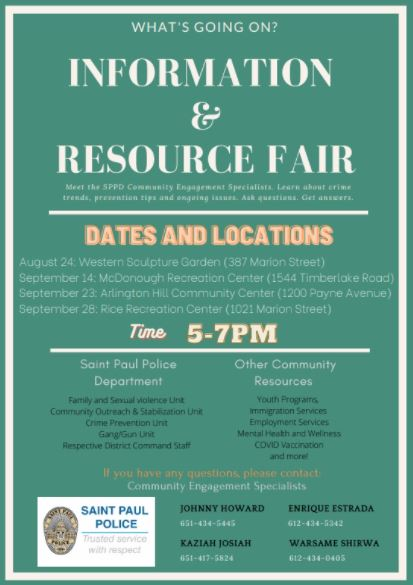 """Event Promo Photo For What""""s Going On?  Information & Resource Fair"""