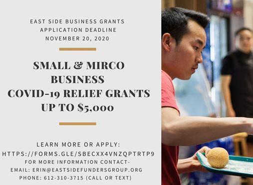 Small Business COVID -19 Relief Fund - Due Nov 20 Main Photo