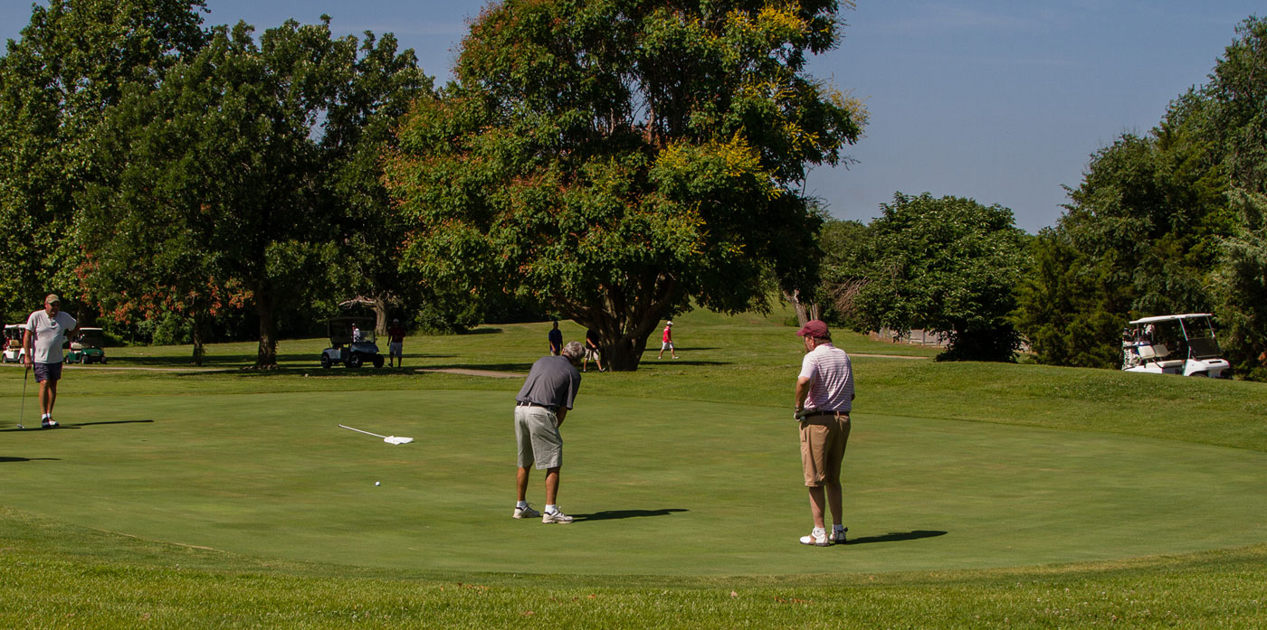 players on a golf course