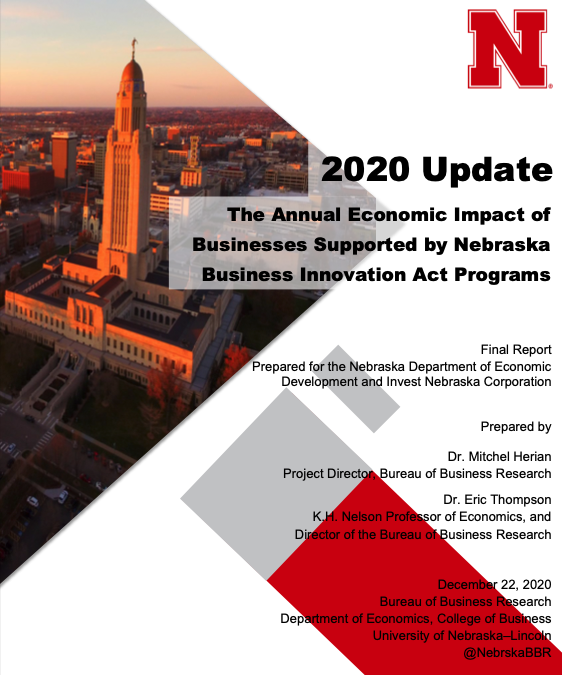 Report Shows Growth of State's Entrepreneurial Ecosystem under Nebraska Business Innovation Act Main Photo
